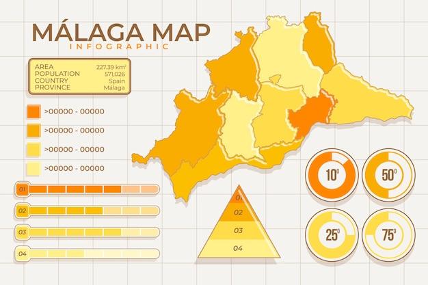 Modelo de mapa plano de méxico
