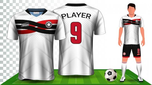 Modelo de maquete de apresentação uniforme de kit de futebol