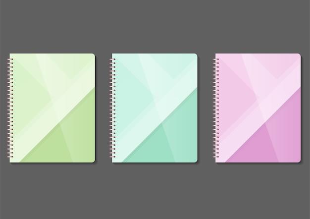 Modelo de maquete de capa de livro de cores.