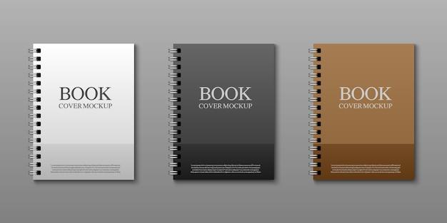 Modelo de maquete de capa de livro, ilustração vetorial