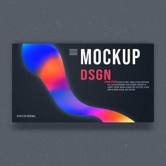 Modelo de maquete de fundo - design minimalista