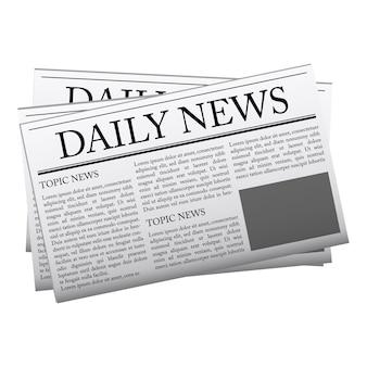 Modelo de maquete de jornal