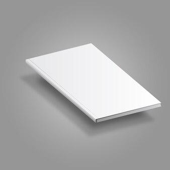 Modelo de maquete de livro flutuante em branco