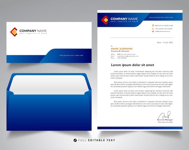 Modelo de maquete de negócios de envelope timbrado