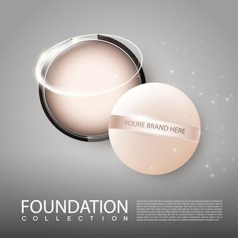 Modelo de maquiagem realista para cosméticos