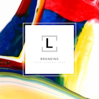Modelo de marca artística quadrada