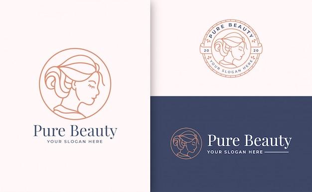 Modelo de marca de logotipo de beleza