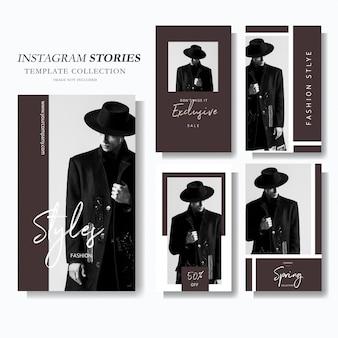 Modelo de marketing da história do instagram