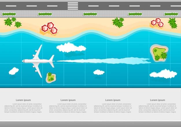 Modelo de marketing de negócios de viagens infográfico
