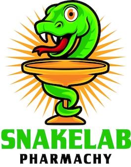 Modelo de mascote do logotipo da snake pharmachy