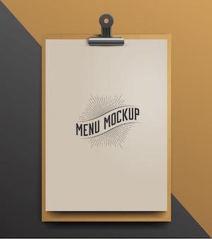 Modelo de menu de cafeteria.