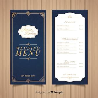 Modelo de menu de casamento