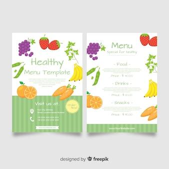 Modelo de menu de comida fresca