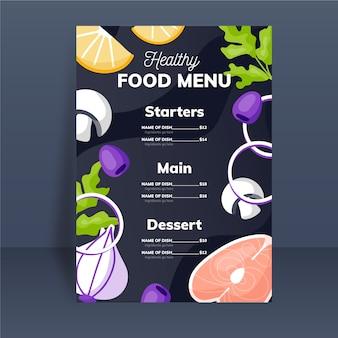 Modelo de menu de comida saudável