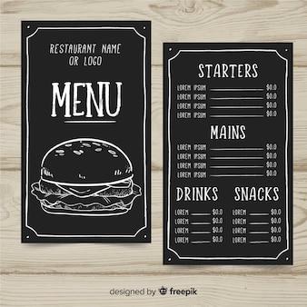 Modelo de menu de hamburguer