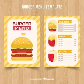 Modelo de menu de hambúrguer