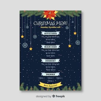 Modelo de menu de Natal