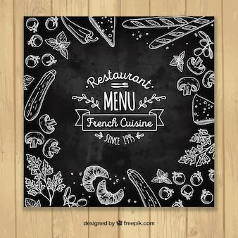 Modelo de menu de restaurante elegante
