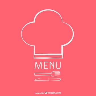 Modelo de menu do restaurante do vintage