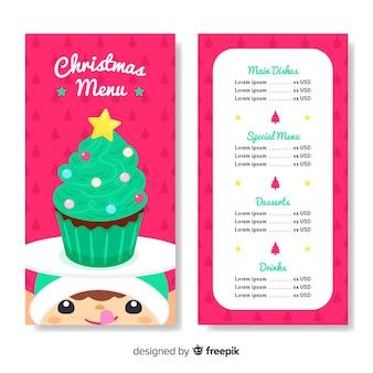 Modelo de menu elf natal