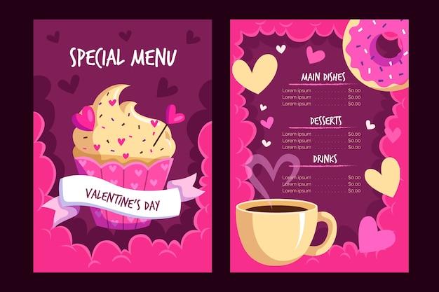 Modelo de menu para dia dos namorados