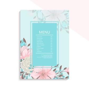 Modelo de menu para restaurante e café