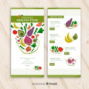 Modelo de menu saudável