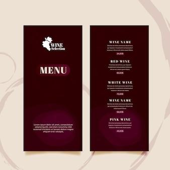 Modelo de menu