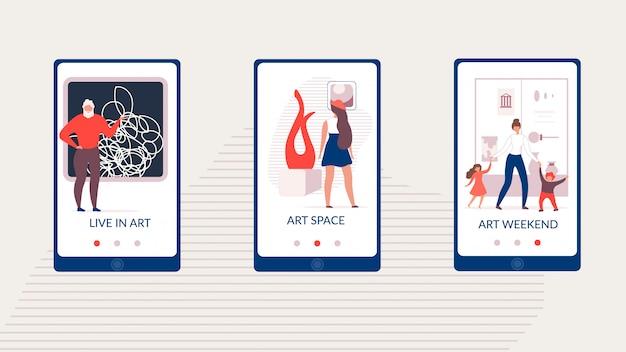 Modelo de mídia social arte espaço gallery page vector