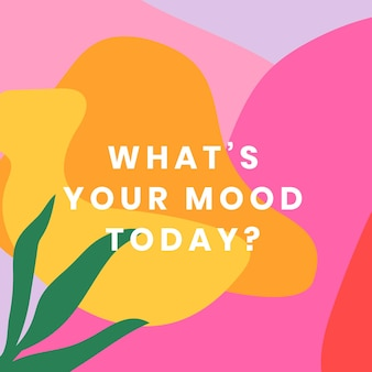 Modelo de mídia social colorido com conjunto de citações positivas