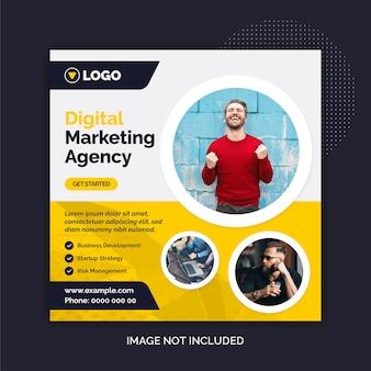 Modelo de mídia social da agência de marketing digital para instagram