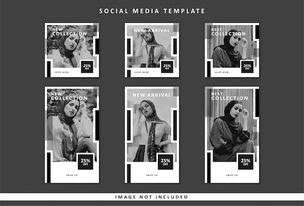 Modelo de mídia social da moda