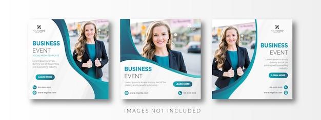 Modelo de mídia social de banner de negócios