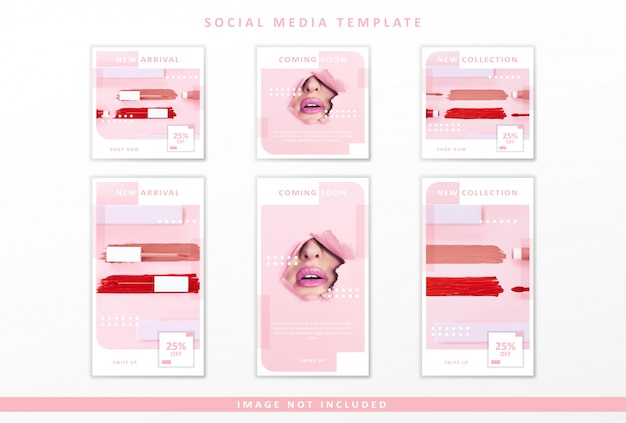 Modelo de mídia social de cosméticos