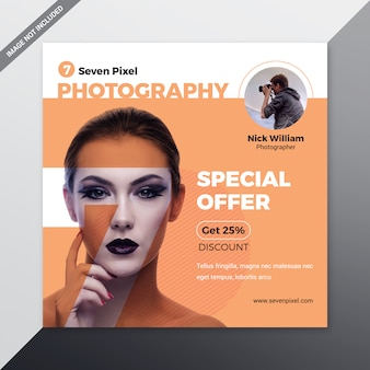 Modelo de mídia social de fotografia