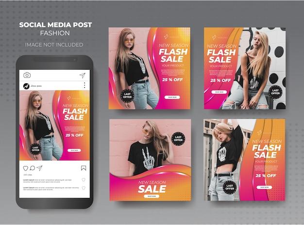 Modelo de mídia social de moda bonito