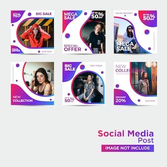 Modelo de mídia social de moda