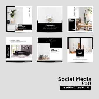 Modelo de mídia social de móveis