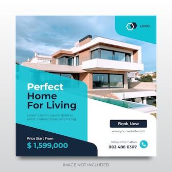 Modelo de mídia social para promoção de casas imobiliárias