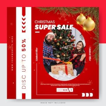 Modelo de mídia social para venda de feliz natal
