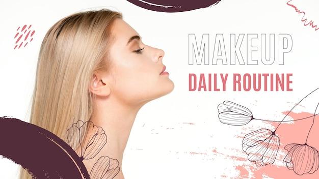 Modelo de miniatura de maquiagem do youtube