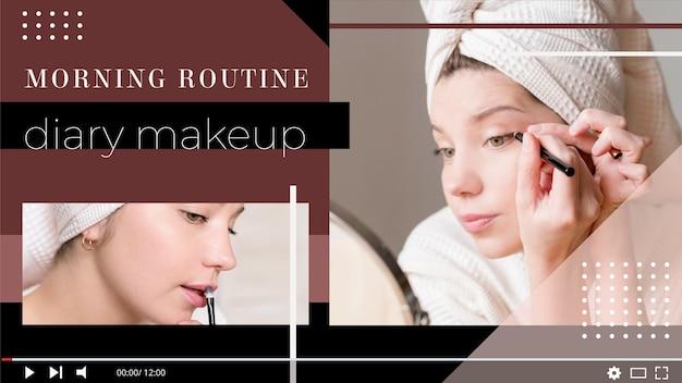 Modelo de miniatura de youtube de maquiagem