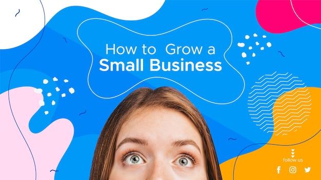 Modelo de miniatura do youtube para negócios abstrato plano