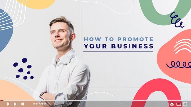 Modelo de miniatura do youtube para negócios abstratos