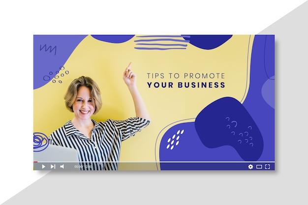 Modelo de miniatura do youtube para negócios