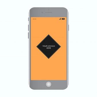 Modelo de mockup realista de celular