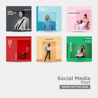 Modelo de moda de mídia social