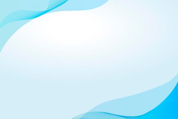 Modelo de moldura curva azul cerúleo