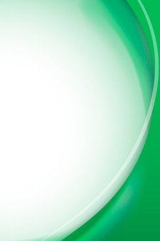 Modelo de moldura curva verde esmeralda