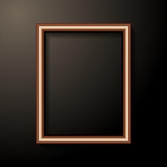 Modelo de moldura de foto dourada